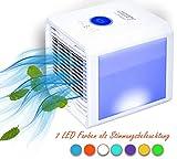 3in1 Mini Air Cooler | 3 Geschwindigkeitsstufen | Stimmungsbeleuchtung | 700 ml Wassertank |...