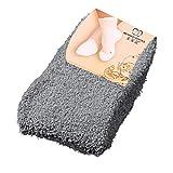 ZBXCVZH 2 Paar flauschige Socken für Damen und Mädchen, weiche Bettsocken, warme Winter-Socken,...