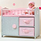 Olivia's Little World TD-12390A Babypuppen-Zimmer, Rosa/Grau