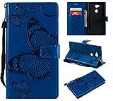 Hülle für Sony Xperia L2 Hülle Handyhülle [Standfunktion] [Kartenfach] [Magnetverschluss] Tasche...