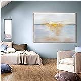 Geiqianjiumai Reine abstrakte Kunst Wei und Goldfolie lgemlde abstrakte hochwertige Wei und Gold...