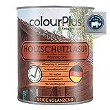 colourPlus® Holzschutzlasur (750ml, Mahagoni) seidenglänzende Holzlasur Außen- Holz Grundierung -...