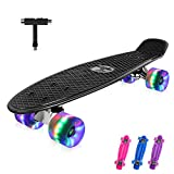 BELEEV Skateboard 22 Zoll Komplette Mini Cruiser Retro Skateboard fr Kinder Jugendliche Erwachsene,...