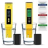 pH Meter, Vivibel pH EC TDS und Temperatur 4 in 1 Messgerät Set, pH Test Pool Zubehör...