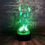 Cartoon Se Maus Nachtlicht Led 3D Optische Tuschung Touch Control Light 16 Farben ndern...