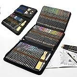 Buntstifte Set für Erwachsene und Kinder, 96 Stück Zeichnen Bleistifte Profi Art Set mit Künstler...