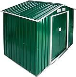 Metall Garten Lagerschuppen Geräteschuppen Zelt 214x130x185 cm,Green-B