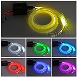 Glasfaser-LED-Licht, 16 W, RGBW, 450 Stück, 0,75 mm, 2 m, für Sternenhimmel + IR-Fernbedienung mit...