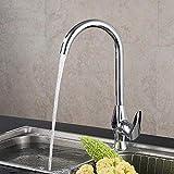 HYY-YY Wasserhahn Mischbatterie Waschbecken Messing Sple Kupferboden Kche Warm- und Kaltwasser...