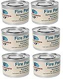Gastro-Bedarf-Gutheil 6 x Sicherheitsbrennpaste je Dose 200 g Qualittsprodukt Fire Paste Brennpaste...