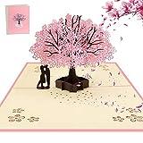 AOBETAK 3D Pop Up Hochzeitskarte mit Umschlag, Glückwunschkarte, Grußkarte für Glückwunsch,...