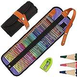 50 Buntstifte Set, HOSPAOP Zeichnen Bleistifte Art Set für professionelle Farbmischung Malen und...