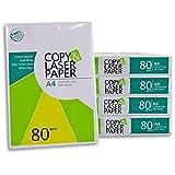 2500 Blatt Hochwertiges Premium Druck- und Kopierpapier von Copy & Laserpaper | DIN A4 80 g | weiß...