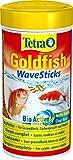 Tetra Goldfish Wave Sticks, Schwimmfähige Futtersticks in Wellenform für eine ausgewogene,...
