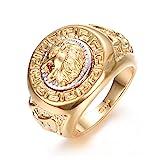 Yoursfs Ring groen Lwenkopf 18 k vergoldet Gold gelben und weien t69 fr Mann oder EIN Junge als...