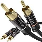 KabelDirekt - Cinch Audio Kabel - 1m - (Koaxialkabel geeignet für Verstärker, Stereoanlangen, HiFi...