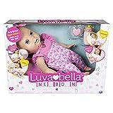 Luvabella 6047317 - Luvabella Newborn, interaktive Baby Puppe (43 cm) mit blonden Haaren,...