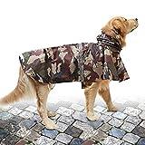 NINEMAX Regenmantel für große Hunde, verstellbar, Camouflage, mit reflektierendem...