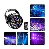 CHENJIA 18LED DMX512 RGB 7 Beleuchtung Modi Disco-Lichteffekt DJ Bühnenbeleuchtung Sound aktiviert...
