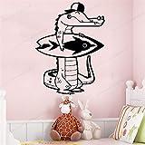 mlpnko Kinderzimmer Dekoration Krokodil Wandaufkleber abnehmbare Aufkleber Kinderzimmer...