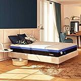 Baldiflex Einzelbett-Matratze mit Federkernmatratze und Memoryschaum, Hybrid Bros, Größe 100 x 200...