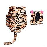 SOIMISS 1 Set Neugeborenen Baby Tiger Kostüm Baby Plüsch Warm Flanell Tier Outfits Bodysuit Und...