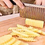 Ndier Gemüsemesser, gewelltes Messer aus Edelstahl, zum Schneiden von Kartoffeln, Küchenmesser aus...