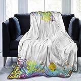 Leisure-Time Weiche Bettdecke Kinder, Wassertiere Fisch, Decken für Baby