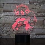 Wfmhra Cartoon Monkey 3D LED Nachtlicht Geschenk Nachttisch Lampe Kids Service Modellierungstisch...