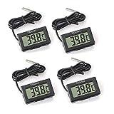 Thlevel Digital LCD Thermometer Temperatur Monitor mit externem Sensor für Kühlschrank...