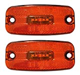 2 St. 12V 24V LED Begrenzungsleuchten Seitenmarkierungsleuchten Seitenleuchten Orange LKW PKW...