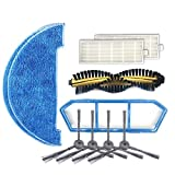 JSHYU Haushaltsreinigungswerkzeuge XI299 2 Paar K614 Seitenbrsten + 2 PCS I261 Rags + 2 PCS I207...