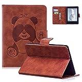 SpiritSun Schutzhülle für Kindle Paperwhite, aus Leder, Motiv: Panda