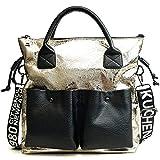 CHQRetro- Sprung-Handtaschen-Damen Arbeiten eine Schulter geschlungenes großes Beutel-Gold 30 *...