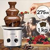 Schokoladenbrunnen 275W - 3 Etagen, Max. Kapazität 1 kg Schokolade, Edelstahl,...