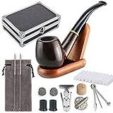 Joyoldelf Tabakpfeife Set & einzig schön Tabakpfeifen Box Tabakpfeife aus Holz mit Pfeifendeckel,...