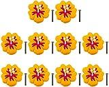 Mbelgriffe Kinderzimmer Set von 10 Mbelknpfe Blumen Mbelgriff Trgriffe Griff Schrank Knpfe Set...