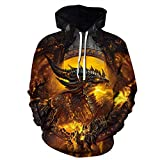 yanghuakeshangmaoyouxiangong Unisex 3D Fire Phoenix Hoodie Frauen Casual Sport Sweatshirt Paar...