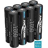 ANSMANN Akku AAA 1050mAh NiMH 1,2V - Micro AAA Batterien wiederaufladbar, hohe Kapazität ideal für...
