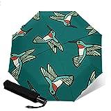 Kolibri-Muster-lustiges Regenschirm-kreatives Geschenk für Mann/Frauen