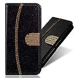 WANYINGLIN Bling Glitter Bookstyle Leder Wallet für Samsung S20 Ultra,Glitzer Diamond Musterg Slim...