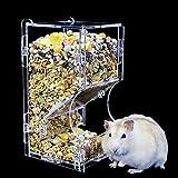 Hamster Feeder aus Acryl Automatisch Futterspender für Haustiere, Eichhörnchen, Igel, Ratte,...