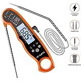 Digital Fleischthermometer Instant Read Grillthermometer Küchenthermometer | LCD Bratenthermometer...
