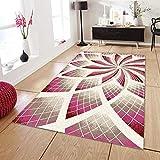 Vlejoy Designer Teppich Bodendekoration Teppich Spirale Blume Lebendige Rosa-100x200cm