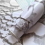HUSTLE 0.45 x 10M Marmor klebefolie Selbstklebende Möbelaufkleber Aufkleber PVC Wasserdicht...