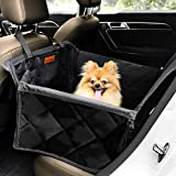 Looxmeer Hunde Autositz für Kleine Mittlere Hunde, Hundesitz Auto Autositzbezug mit Sicherheitsgurt...