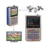 GT MEDIA V8 Satelliten Finder Meter Sat Finder Satellitenerkennung DVB-S2X Signalempfänger Decoder...