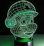 Super Mario Bros Luigi Krte Drache Cartoon Spiel Charakter 3D LED Tischlampe Acryl Neuheit...