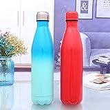 ZLKMQ Isolierte Wasserflasche, 500 ml, doppelwandiger Edelstahl, Isolierte Trinkflasche,...
