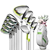 ZDAMN Golfschlägerset Golf Club Damen Set Eisen Holz Pole Putter Full Set mit Kugel-Tasche Grün 13...